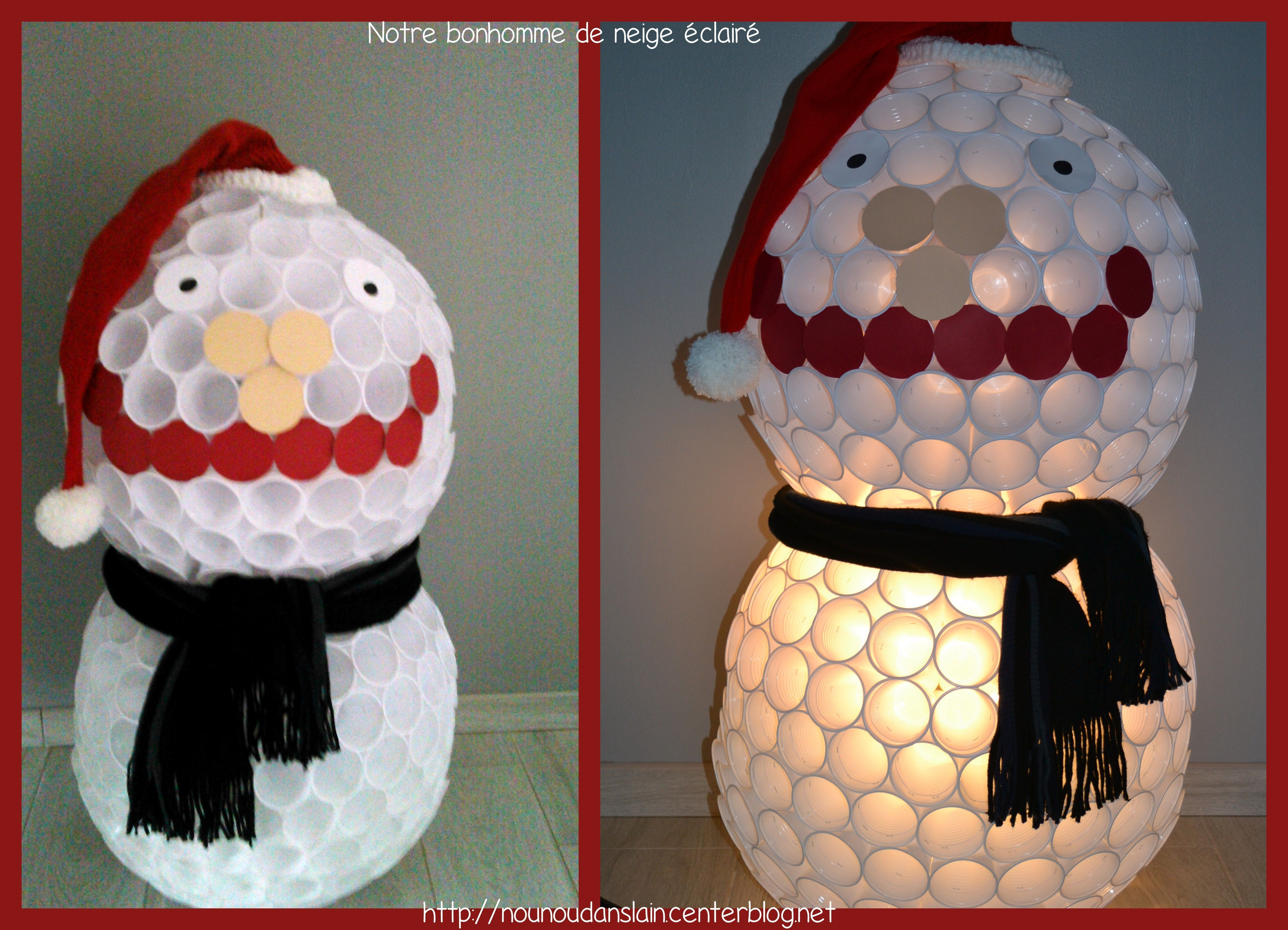 Notre bonhomme de neige - Bonhomme de neige gobelet plastique ...