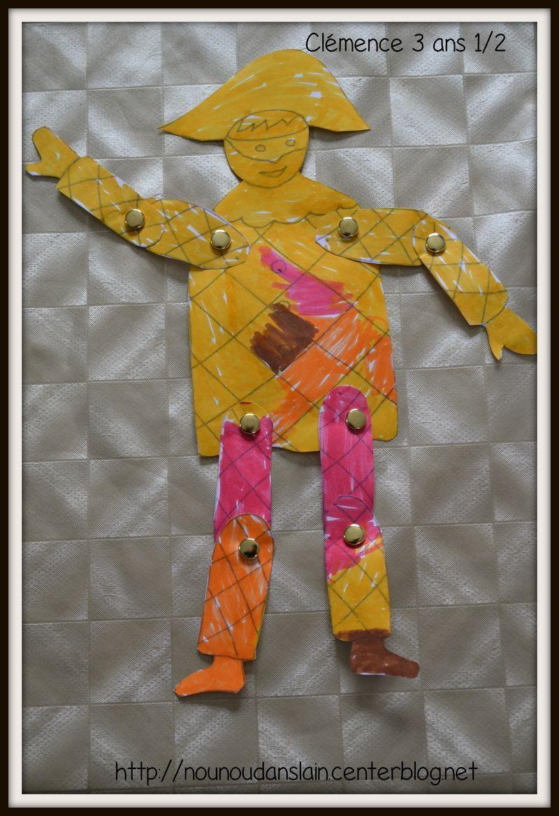 Coloriage Pantin Arlequin.Nos Arlequins