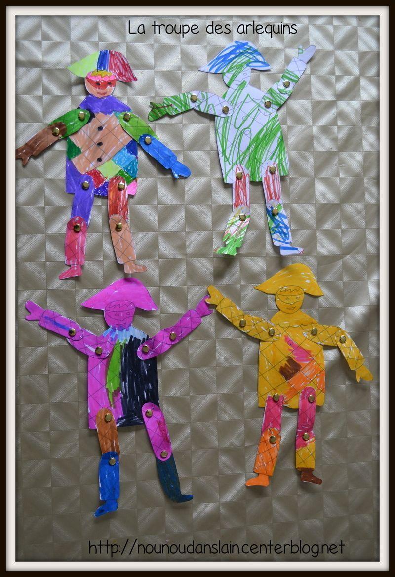 Coloriage Pantin Arlequin.Chez Nounou Dans L Ain Page 6